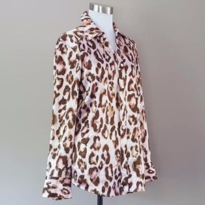 Blouse Animal Print Chico's Size 6 - 8